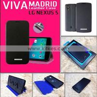 Jual LG Nexus 5 Viva Madrid Leather / Flip Case - Hitam Murah