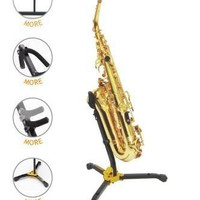 Hercules DS530B - Alto/Tenor Saxophone Stand with Adjustable Backrest