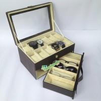 Kotak Jam isi 12 Mix Kacamata / Tempat Jam Kacamata / Box Kacamata