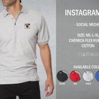 Kaos Polo Instagram 02 T-shirt Baju Kerah Social Media IG
