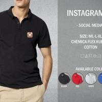 Kaos Polo Instagram 01 T-shirt Baju Kerah Social Media IG