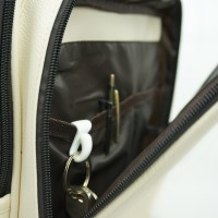 V-tie Plastic Handbag Key Clip Holder 2pcs - Black White