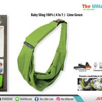 Gendongan Bayi - Mini Monkey - Baby Sling 4 in 1- Lime Green
