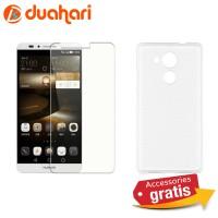 HUAWEI MATE 8 Tempered Glass Casing Handphone Soft Case Transparan