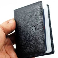 DOMPET KARTU / CARD HOLDER KULIT ASLI | BRAUN BUFFEL 676 HITAM | 1241