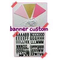 banner bunting flag custom kata kata sendiri