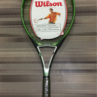 Promo! raket tenis wilson pro power 110 + senar dan cover