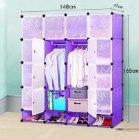 lemari rak baju gantung wardrobe PLASTIK PAKAIAN FURNITURE GROSIR SALE