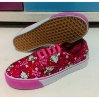 Jual VANS AUTHENTIC MULTIPOP HELLO KITTY RED FANTA SOL/SEPATU WANITA Murah
