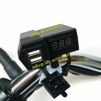 voltmeter+charger usb motor sport Bracket stang/ volt meter chasan hp