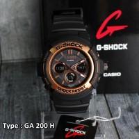 harga Jam Tangan Pria Casio G Shock GA200H RoseGold Grade original dual time Tokopedia.com