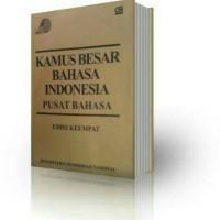 Buku Kamus ( BESAR BAHASA INDONESIA ) Edisi ke-4