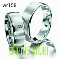 cincin kawin nikah tunangan pasangan couple perak lapis emas putih