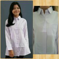 kemeja tunik putih PNS Jawa Barat, baju blose putih, kancing tertutup