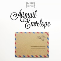Mini Airmail Envelope - Airmail Amplop Coklat - Amplop Vintage