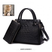 TAS FORMAL KOREA IMPORT DOMPET BLACK JALAN MODIS 2IN ONE ELEGAN LUXURY