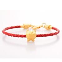 Tiaria 12 Zodiac Tiger 24K Gold Bracelet Perhiasan Gelang Emas Wanita