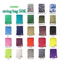 Jual String Bag / Gym Sack / Tas Sepatu Olahraga Futsal Basket Travell Run Murah