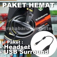 Paket SteelSeries Siberia 200 Gold Headset + USB Surround Soundcard