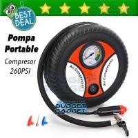 Pompa Ban Portable Compresor 12V 260 PSI  (Mobil/Motor/Bola)