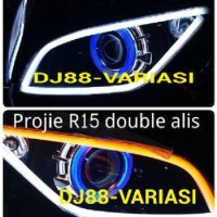 lampu projie r15 Angel Eyes Demon Eyes Devil Eyes R15 , Lampu Hid R15