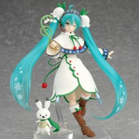 Action Figure PVC Figma EX-024 Snow Hatsune Miku Snow Bell Ver
