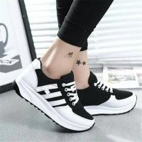 Jual Sepatu Wanita Kets Casual Strip  SDS140 Murah