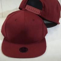 Jual Grosir topi snapback hiphop polos merah marun topi Murah Murah