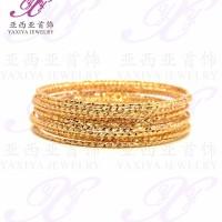 Gelang Lapis emas Keroncong set 12 (anak) Perhiasan imitasi Yaxiya 448