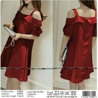 Harga long sabrina red kimora collections tanah | antitipu.com