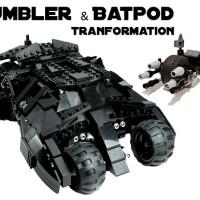 Jual lego artifex tumbler custom + batpod batman Murah