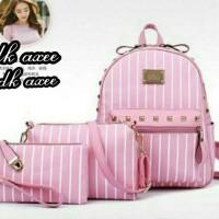 tas ransel pink/tas ransel wanita/tas kerja/sekolah tas wanita murag
