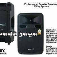 Speaker Pasif Ashley 15 Inch Ss-400 P Original ( 1`Pasang )