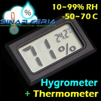 Hygrometer + Thermometer LCD Digital Sensor Kelembaban Suhu Humidity