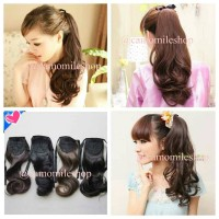 PONYTAIL TALI PITA CURLY HAIRCLIP EKOR KUDA HAIR ACCECORIES