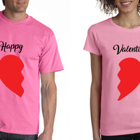 KAOS COUPLE VALENTINE / CUSTOM DESIGN / Happy (Divided) Valentine
