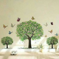WALL STICKER 60X90 TRANSPARAN AY894 SPRING TREES