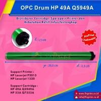 OPC Drum HP 49A Q5949A 53A Q7553A, Printer HP P2015 1320