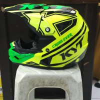 Helm KYT Cross Over KRacing Super Fluo K Racing Fullface