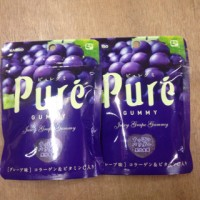kanro pure grape gummy Murah