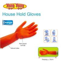 Sarung Tangan Karet Young Young Orange Household Gloves