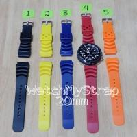 20mm rubber strap - tali jam tangan karet AM Z22 for seiko orient dll
