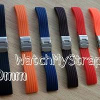 20mm rubber strap tali karet jam tangan for seiko citizen orient dll