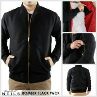 Bomber Premium Black / Jaket Murah / Grosir Jaket