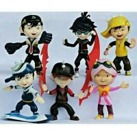 6pc BOBOIBOY Action Figure Mainan Pajangan Boneka Miniatur Boboi boy