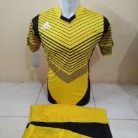 Setelan Futsal, Kostum Tim, Jersy Bola, Adidas Kuning Garis