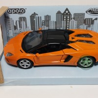 1/38-46 Lamborghini Aventador LP700-4 Roadster (black/orange) Apolo