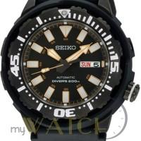 Jam Tangan Pria Seiko Automatic Divers 200M SRP231 Black Rubber Strap