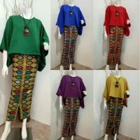 Setelan Kebaya batik Modern katun Prada Mix Baloteli
