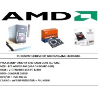 PC KOMPUTER AMD RAKITAN GAME EKONOMIS [AMD A4-6300 3.7GHZ/ DDR3 4GB]
